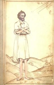 Изображение святого блаженного Симона Юрьевецкого из рукописи