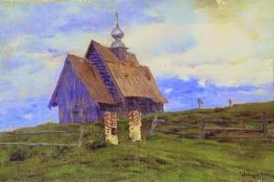 И.Левитан. Церковь в Плёсе.