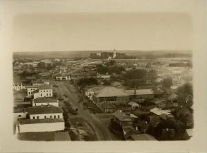 Вид на Успенское кладбище со стороны Часовенной улицы (ныне - улица Смирнова). Начало XX века.